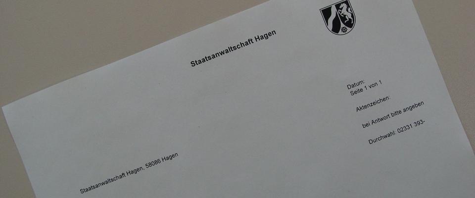 Staatsanwaltschaft Hagen Startseite